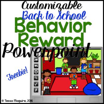 Classroom Behavior Incentive Powerpoints BTS cover