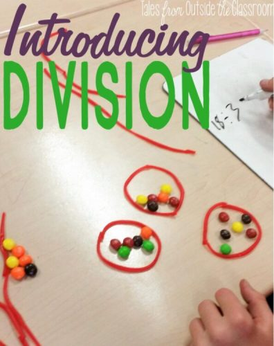 Introducing division with skittles