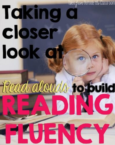 Build students' reading fluency by reading aloud to them.
