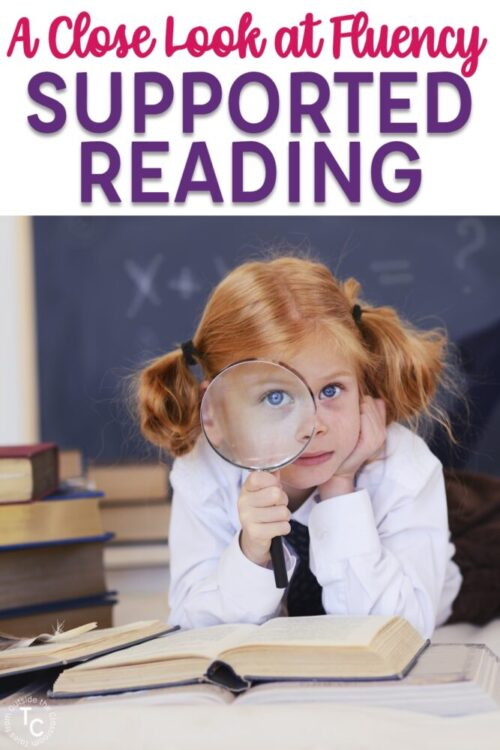 A close look at fluency supported reading with girl with magnifying glass