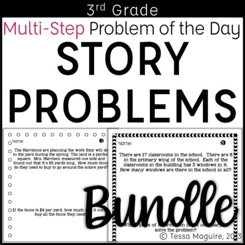3rd Grade Problem of the Day Story Problems Bundle Cover