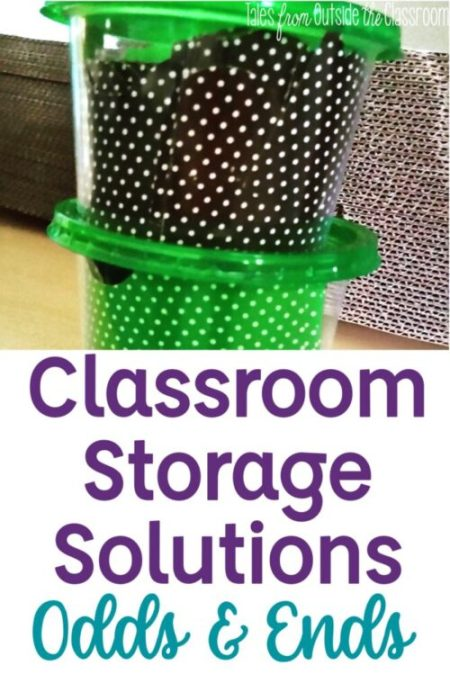 Classroom Storage Solutions with Bulletin Board Borders