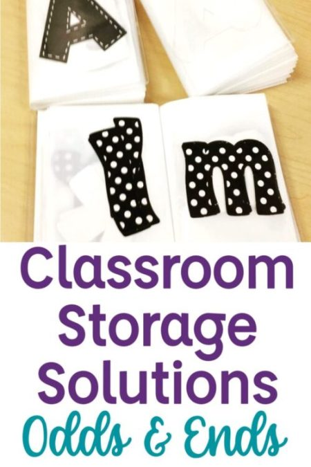 Classroom Storage Solutions for Odds & Ends with Bulletin Board letters