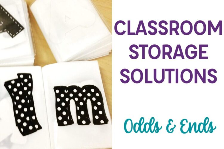 Classroom Storage Solution Odds & Ends with Bulletin Board letters cutouts