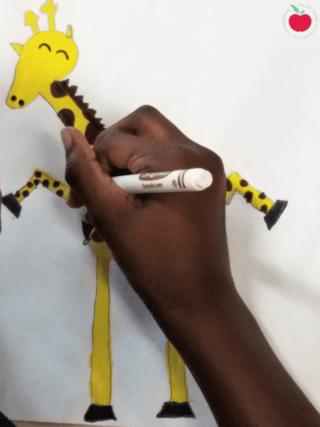 Giraffes can't dance drawing