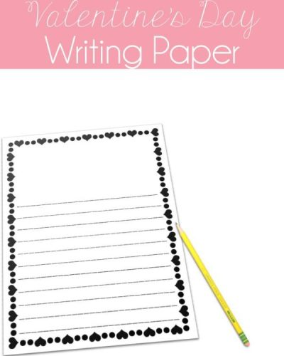 Free writing paper for Valentine's Day