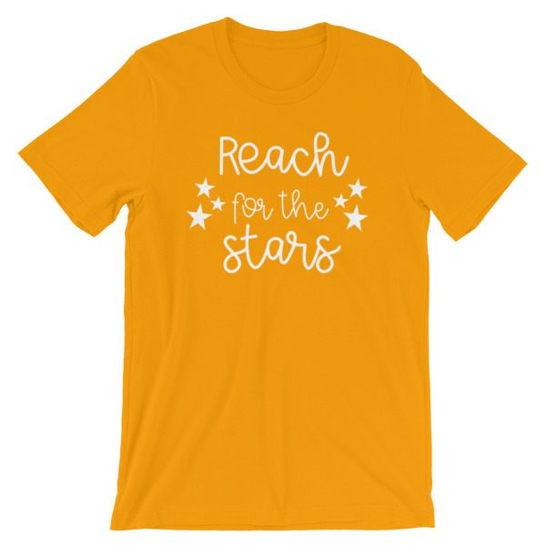 Reach for the stars tee gold
