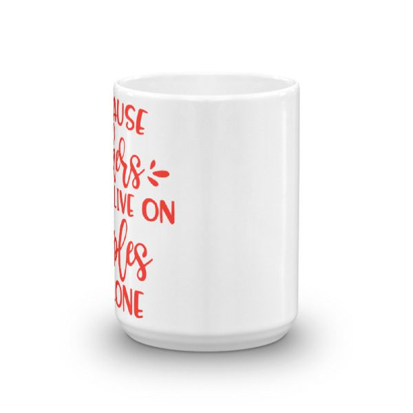 Because teachers can't live on apples alone coffee mug