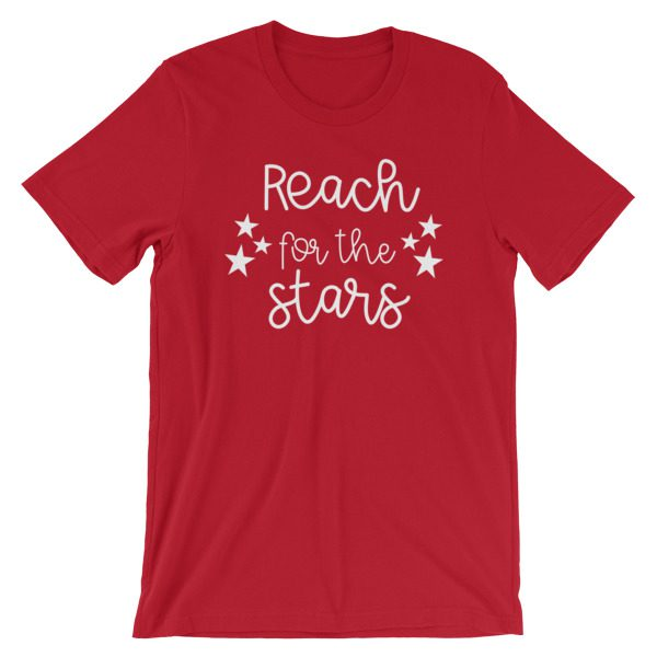 Reach for the stars tee red