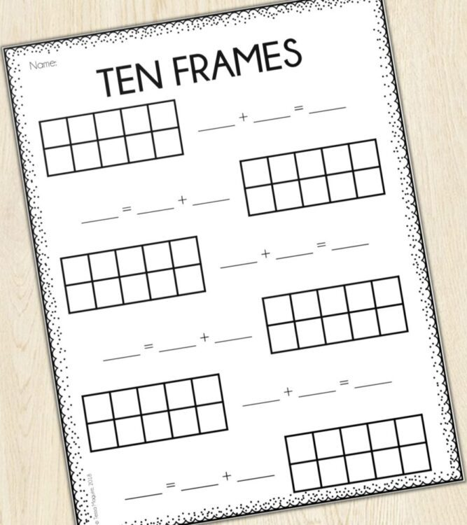 photograph regarding Ten Frames Printable titled 10 Frames Addition Printable Stories versus Outdoors the Clroom