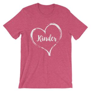 Love Kindergarten tee- Heather Raspberry Pink