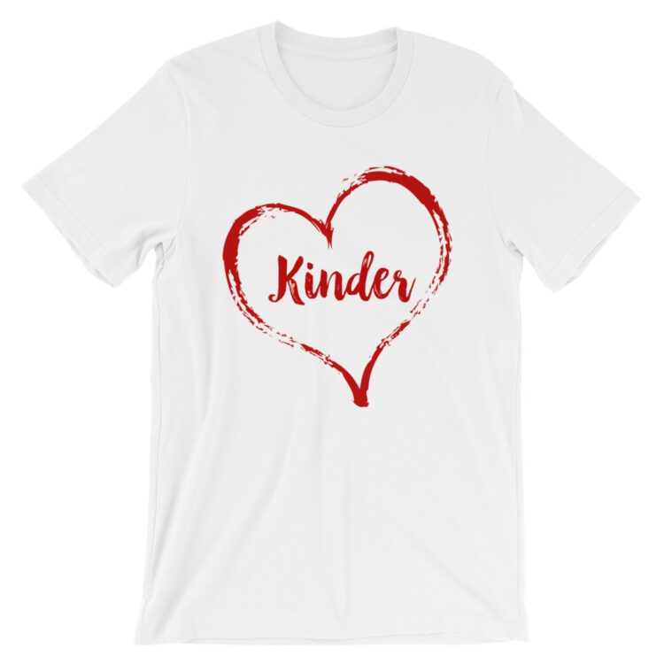 Love Kinder tee- White with Red