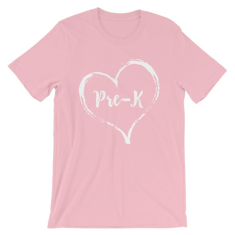 Love Pre-K tee- Pink with white