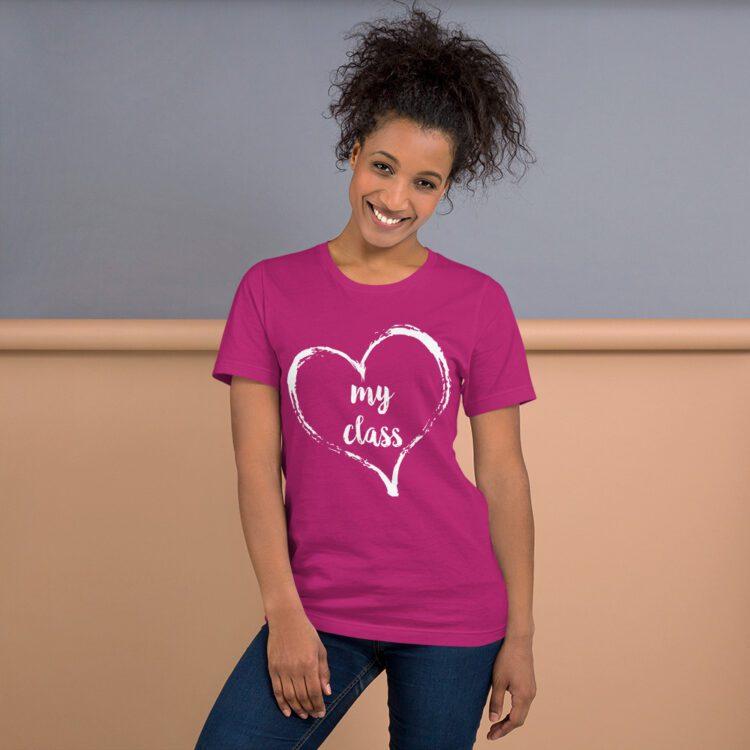 Love my Class tee- Berry Pink
