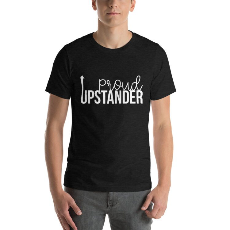 Proud Upstander tee- Heather Black