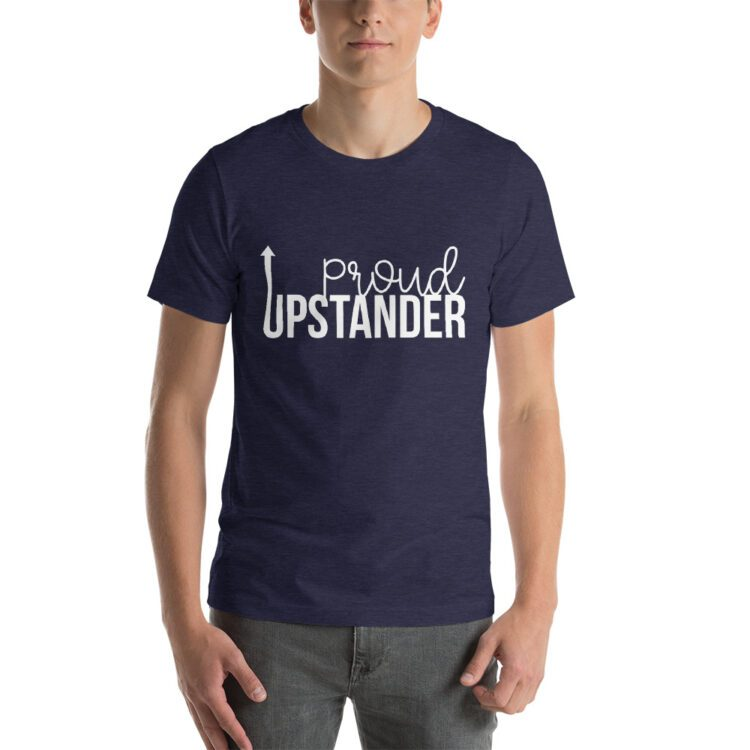 Proud Upstander tee- Heather Navy blue