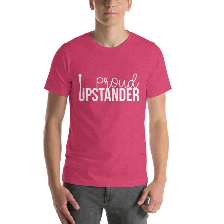 Proud Upstander tee- Heather Raspberry Pink
