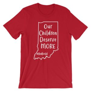 Indiana Red for Ed tee