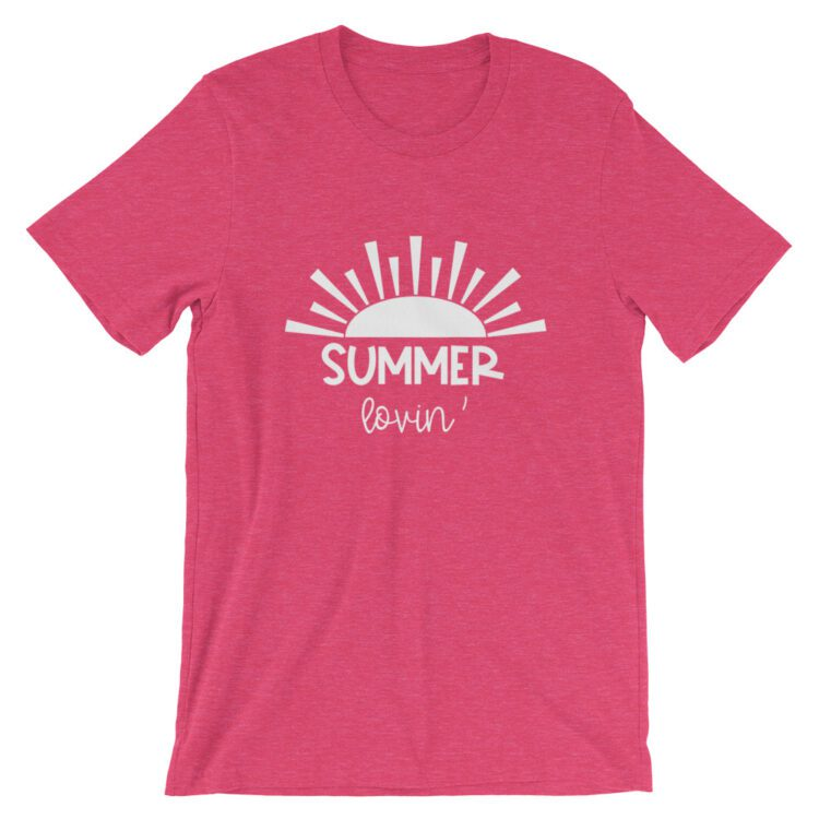 Heather Raspberry Summer Lovin tee