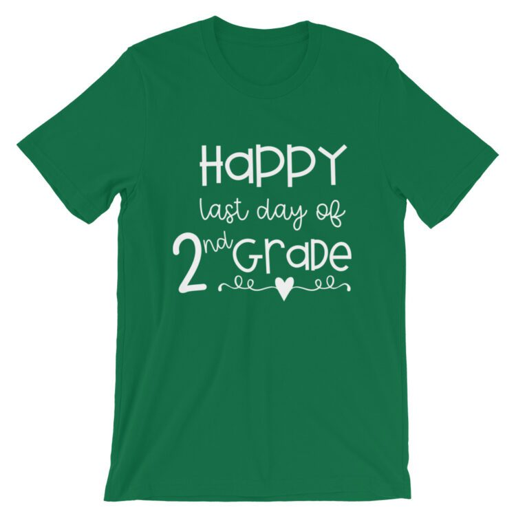 Kelly Green Last Day of 2nd Grade tee