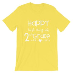 Yellow Last Day of 2nd Grade tee