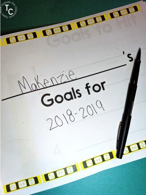 Student Goal Setting workbook