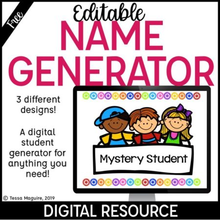Editable Student Name Generator cover