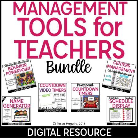 Digital Classroom Management Tools for Teachers bundle