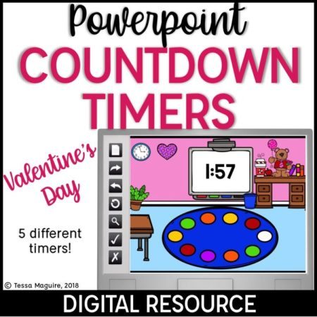Powerpoint Countdown Timers for Valentine's Day