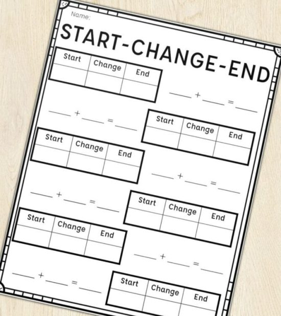 Start Change End Printables