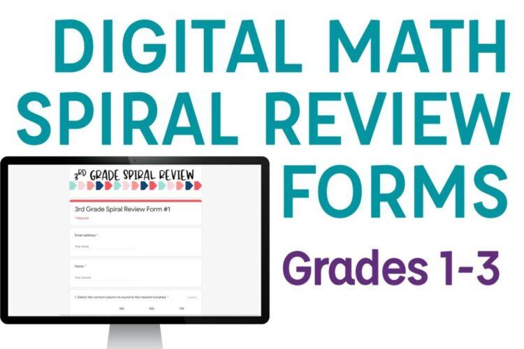 Digital Math Spiral Review Forms
