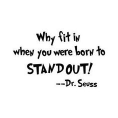 Dr. Seuss Stand Out