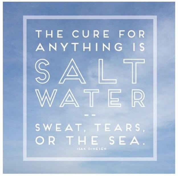 sweat, tears, or the sea