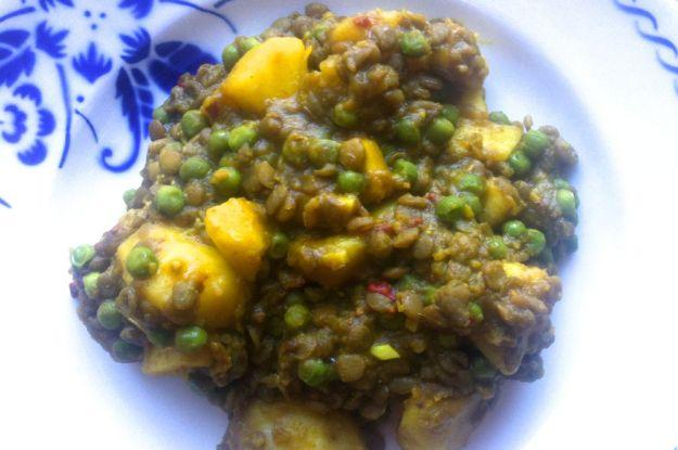 aardappelcurry met linzen