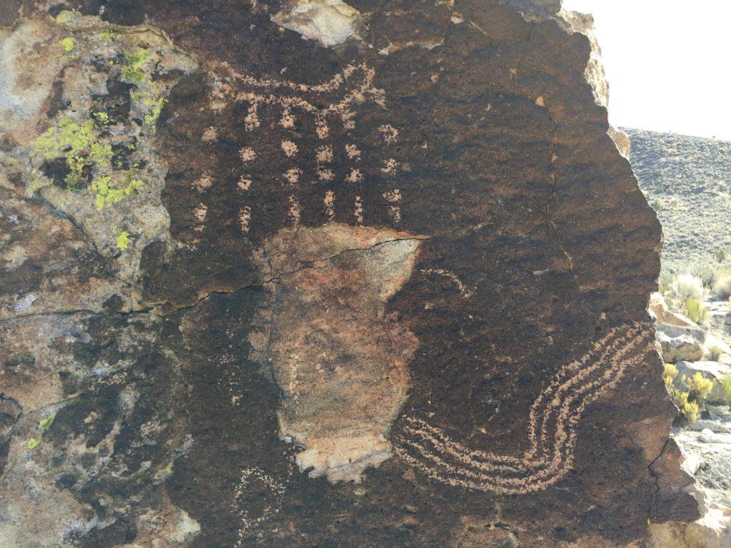 Shooting Gallery, Pahranagat Valley, Lincoln Valley, Nevada, Rock Art, Petroglyphs, Pahranagat Man