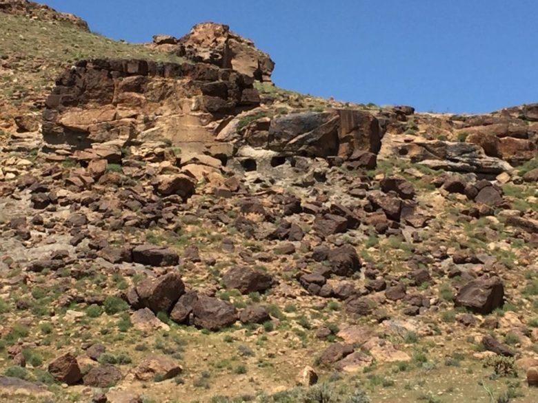 Rings Trail, Hole-in-the-Wall, Banshee Canyon, Mojave Desert, Mojave National Preserve, California, Petroglyphs, Rock Art