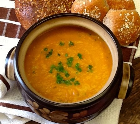 Roasted Carrot and Leek Soup