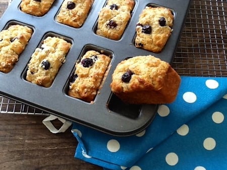 These Healthy Blueberry & Orange Muffin Bars are moist, tender & bursting with juicy blueberries. Made with wholewheat & oats & are sugar free too!
