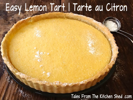 Lemon Tart or Tarte au Citron looks and tastes great and yet is really easy to make. Simply whisk together your filling ingredients, pour the mixture into a baked pastry case (preferably home-made) et voila, a delicious lemon tart !