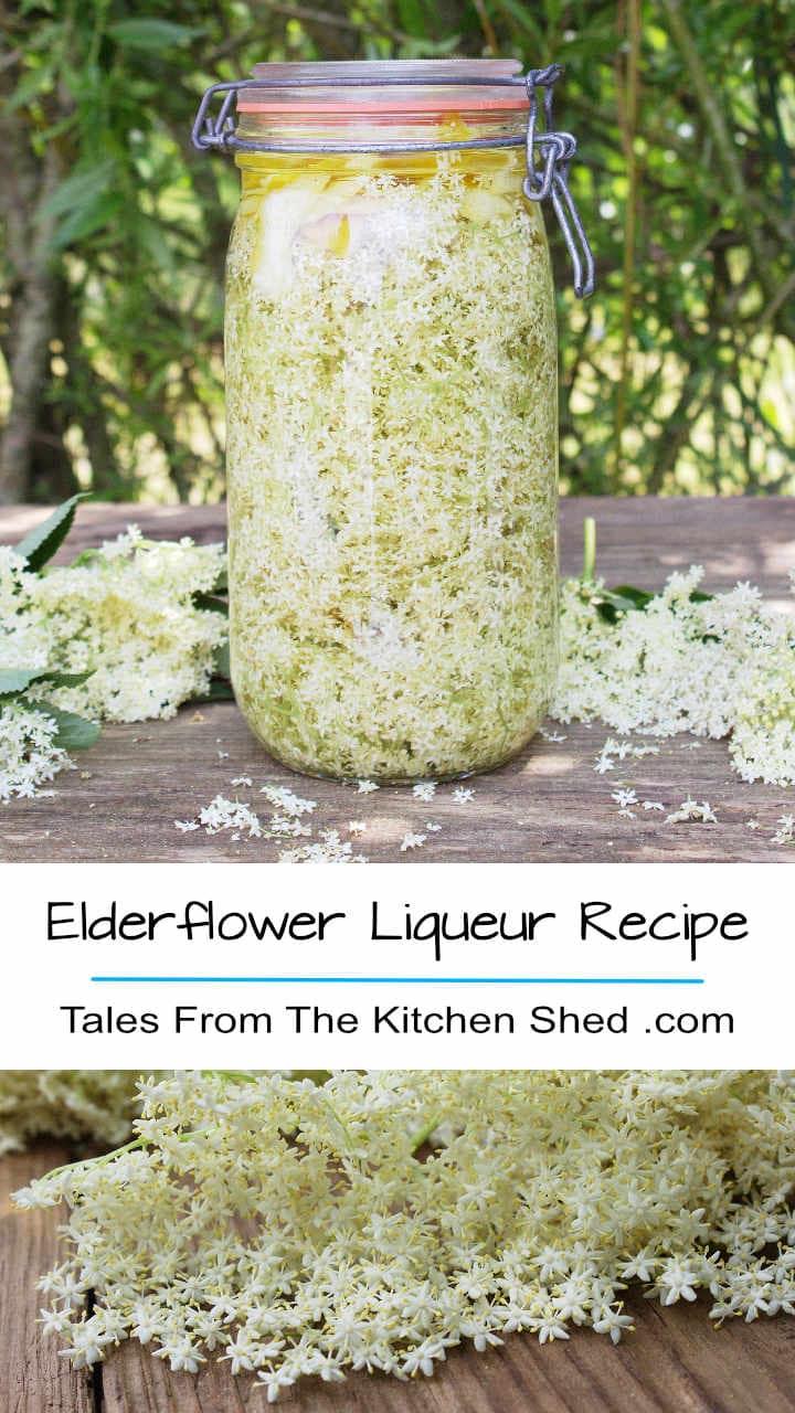 Capture the taste of summer with my Elderflower Liqueur recipe. Freshly picked elderflowers, vodka & lemon work their magic - et voila homemade St Germain!