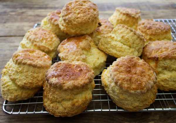 Light & tender Homemade Buttermilk Scones made from scratch in just 20 minutes - the perfect afternoon teatime treat!