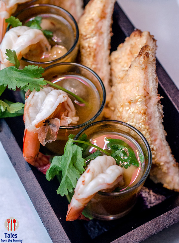 Pink Panda Prawn Toasties and Tom Yum Shots 01