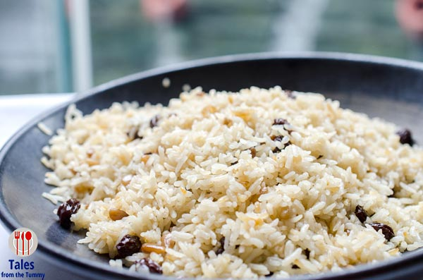 Circles Event Cafe Treasures of Turkey Rice With Nuts and Raisins
