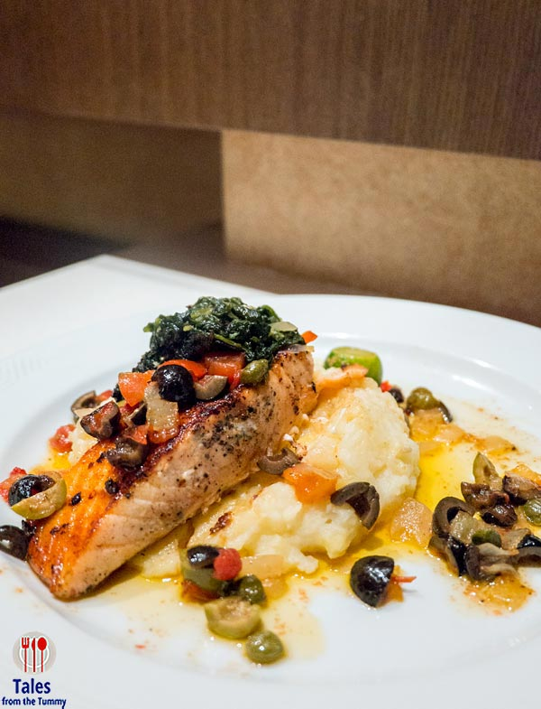 Bellevue Resort Bohol Baked Salmon with Olives and Caper with Mashed Potato