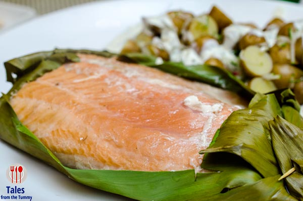 Bruce Lim Rustique Kitchen Makati Banana Leaf Salmon