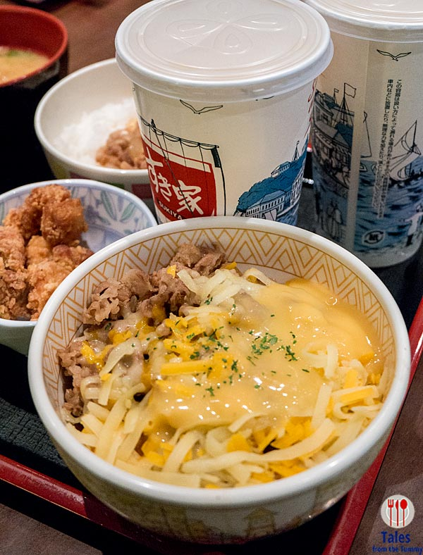 Sukiya Kansai Airport Osaka Gyudon with Cheese