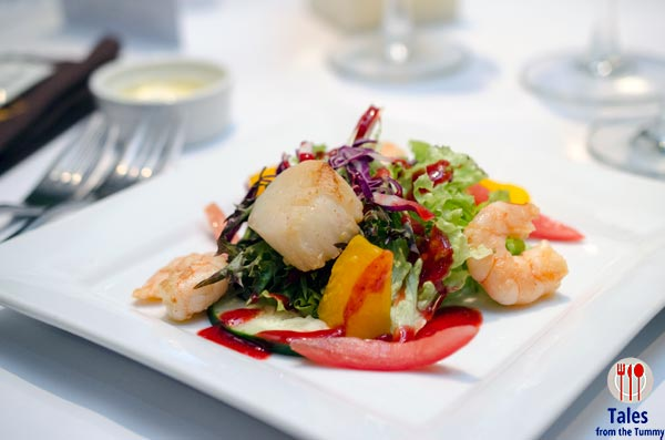 House of Wagyu Scallop and Shrimp Salad Strawberry