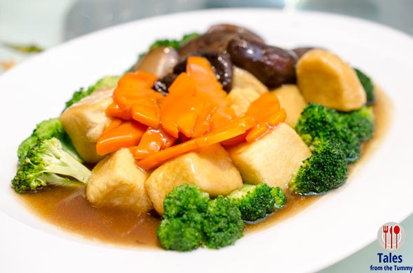 Ming Kee Live Seafood Restaurant Homemade Beancurd with Vegetables