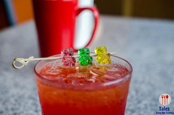 Skull and Bones UP Town Gummy Bear Cocktail