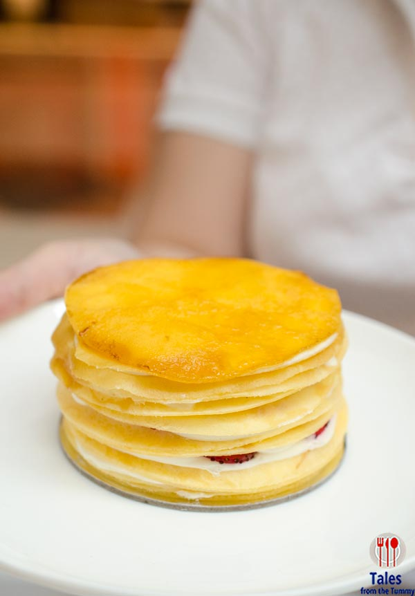 Paper Moon Cafe Manila Strawberry Crepe Cake